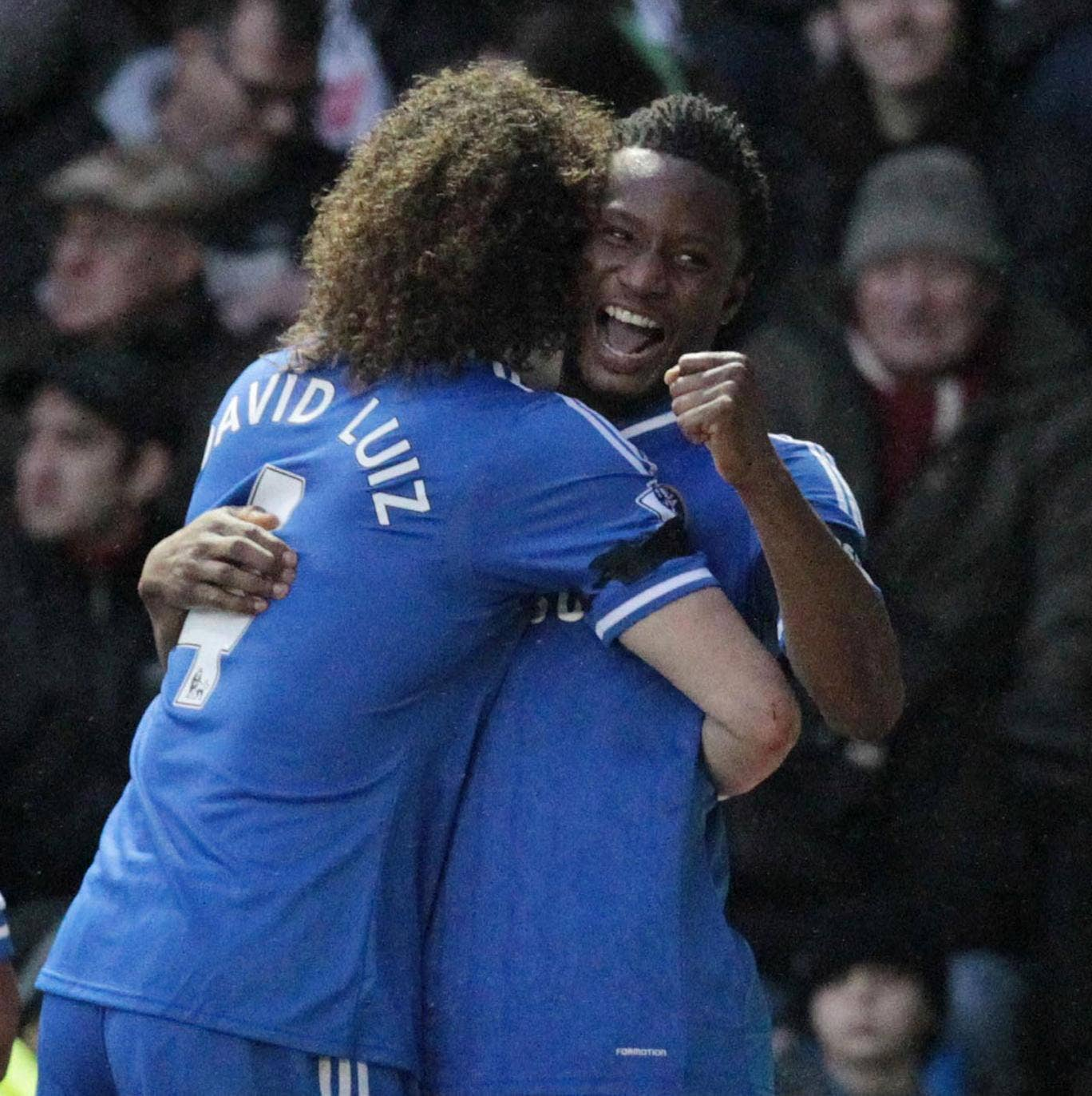John Obi Mikel celebrates scoring against Derby, but one Blues fan wasn't smiling after Lee Mitchell promised to get the midfielder's name tattooed on his bum if he scored