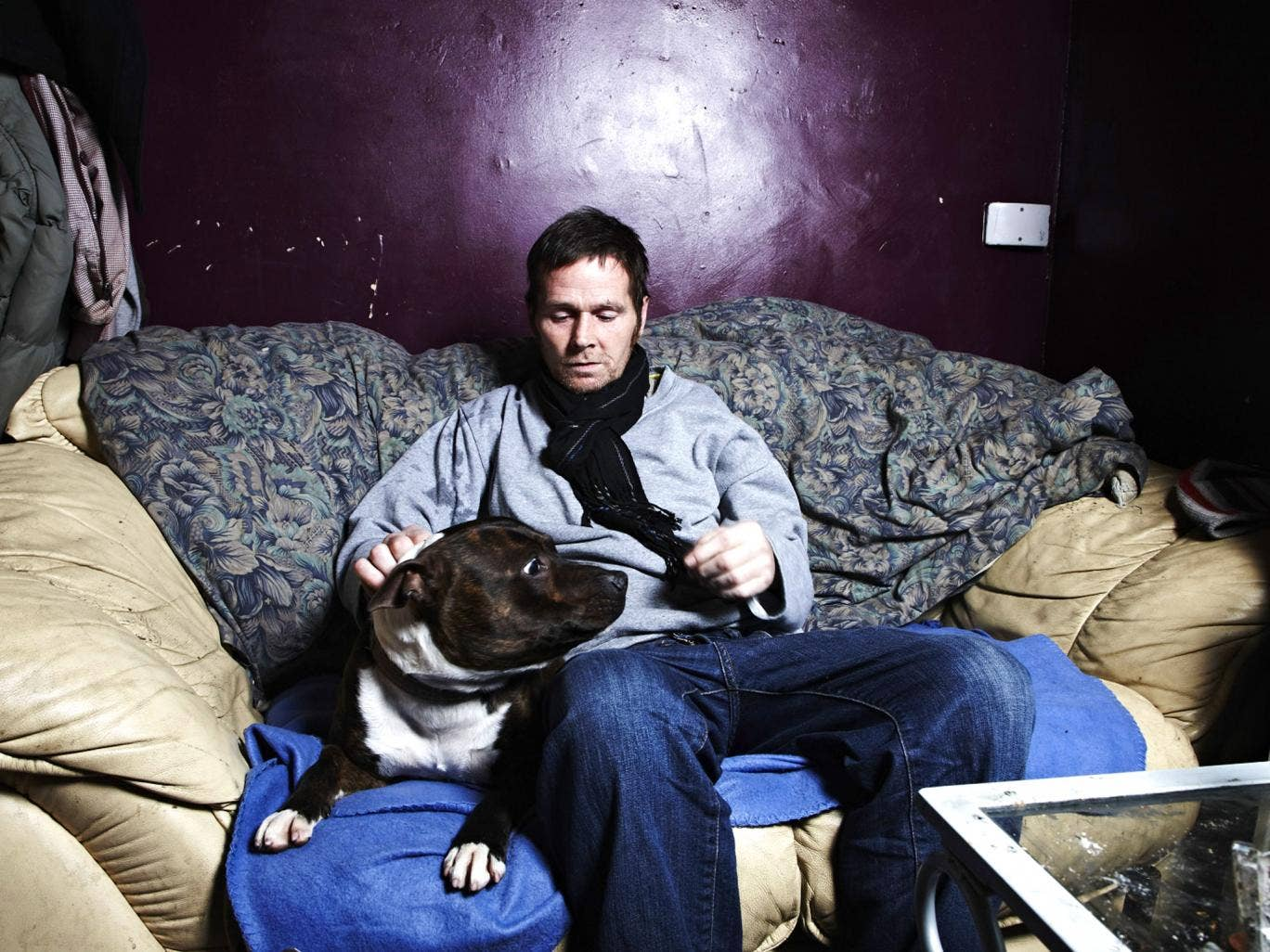 Fungi and his dog in Channel 4's Benefits Street