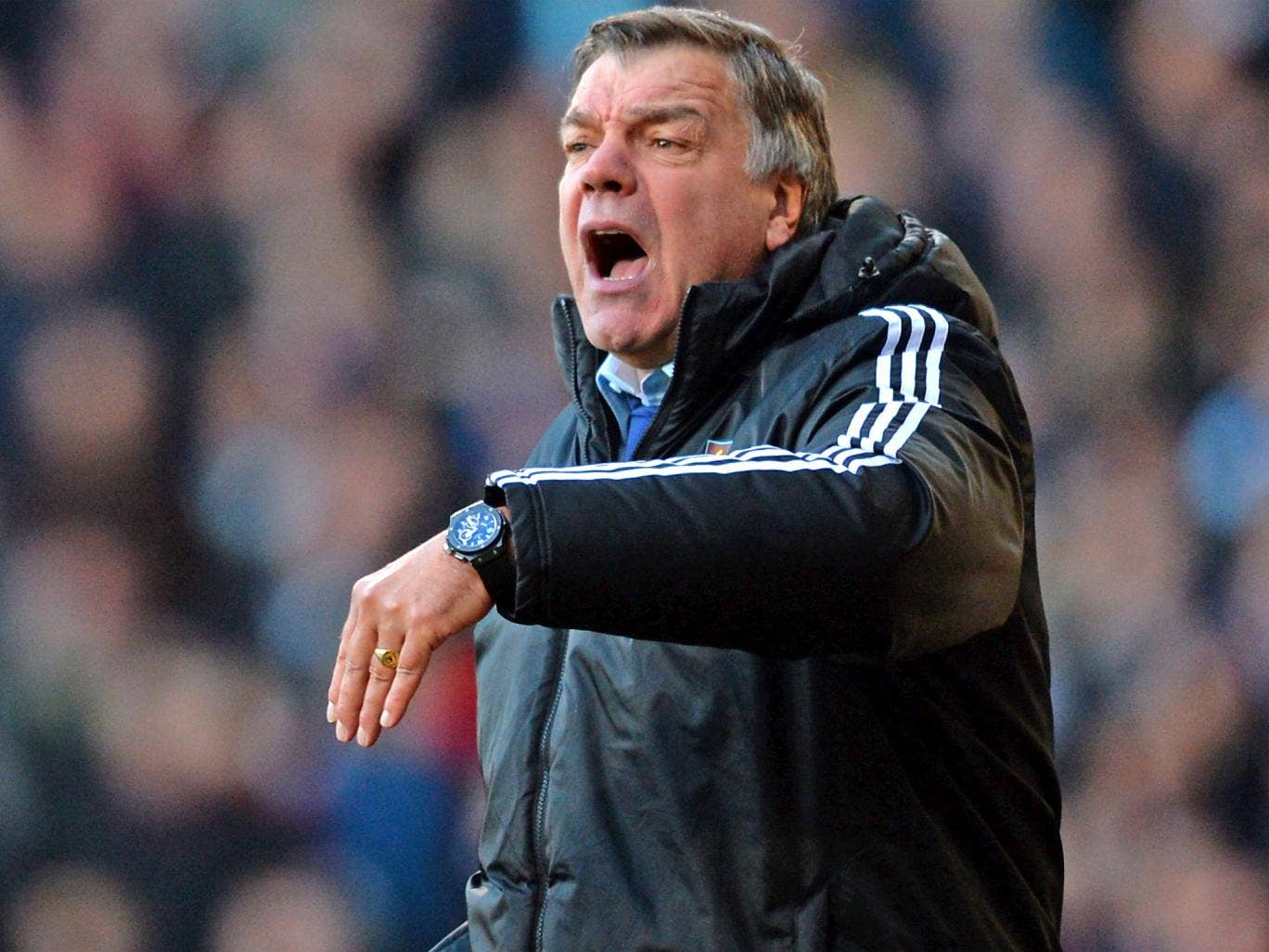 Sam Allardyce wants to still be in contention in the home leg