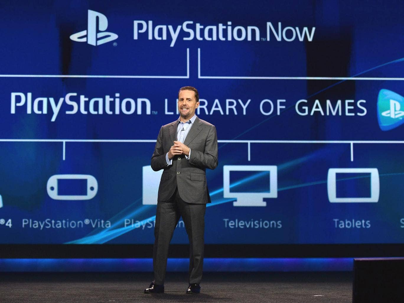 Sony Computer Entertainment President and Group CEO Andrew House, executive in charge of Sony Network Entertainment, introduces PlayStation Now