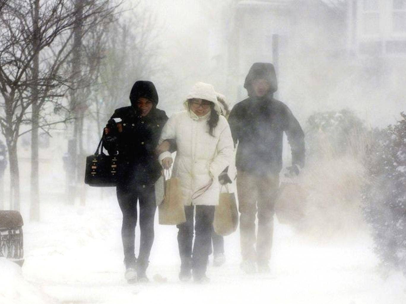 Elmwood Village residents walk down Elmwood Avenue in Buffalo, New York