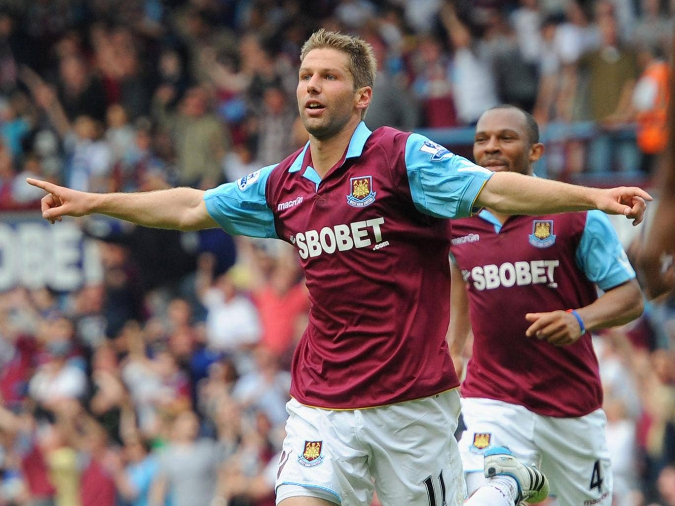 Thomas Hitzlsperger during his time at West Ham