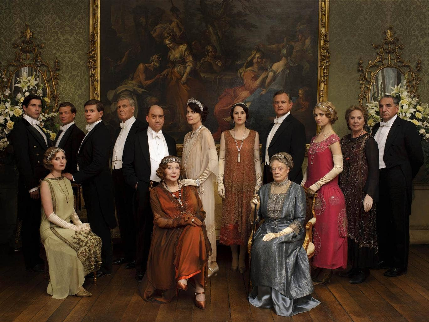 The cast of Downton Abbey in the 2013 Christmas special