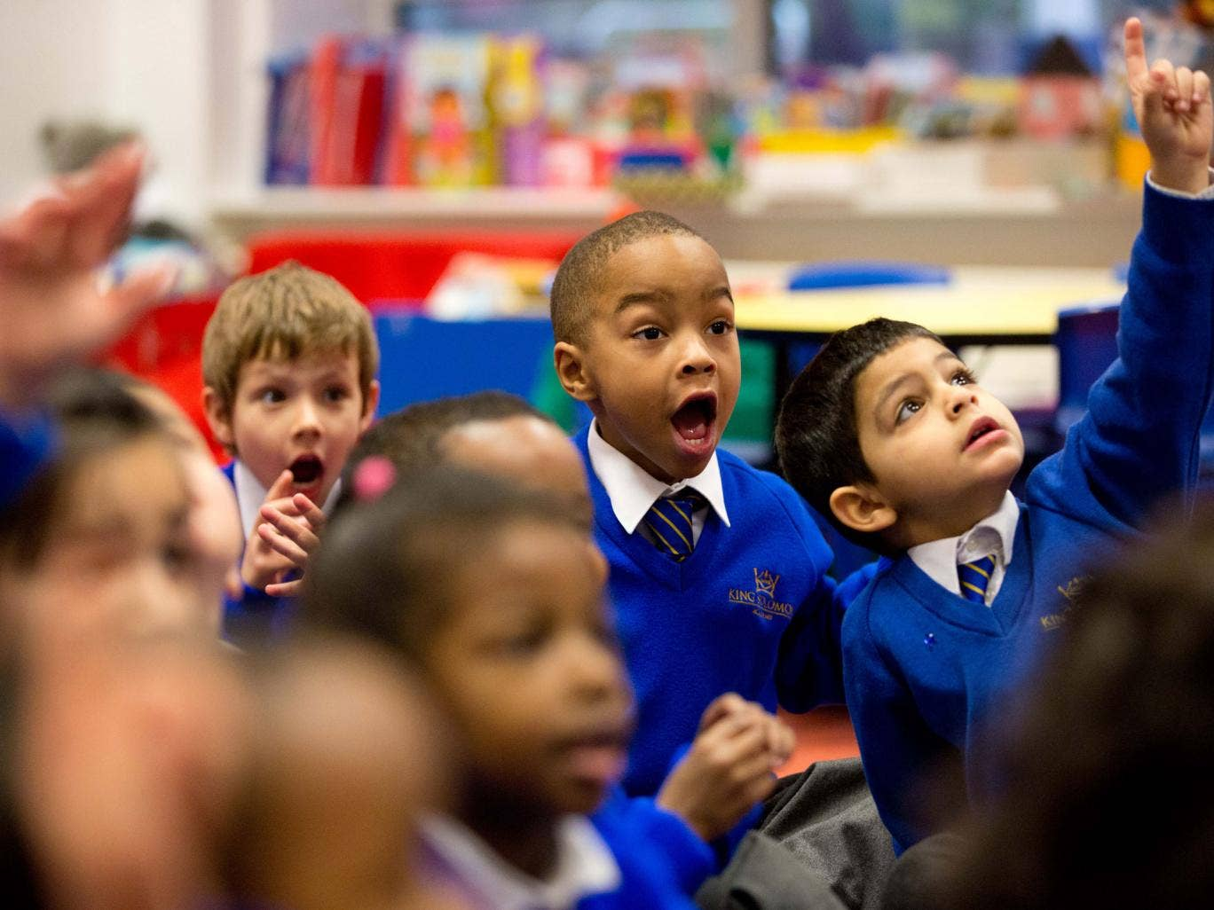 Big ideas: nursery pupils in the 'Southampton' class at the King Solomon Academy