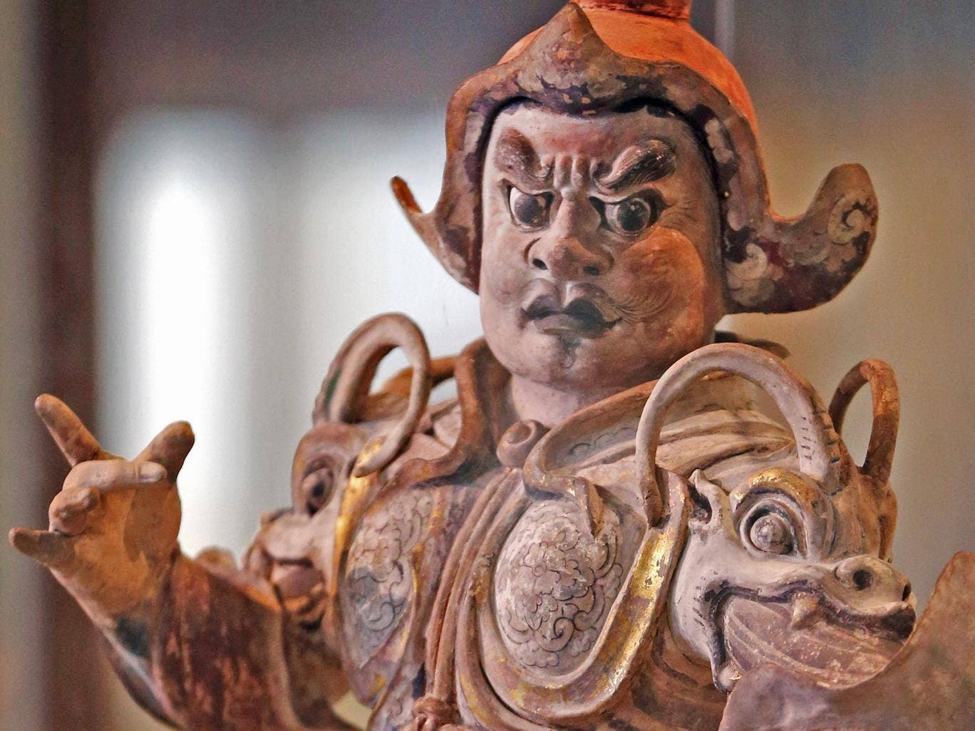 Figures such as this 7th or 8th century tomb guardian show a new side to China