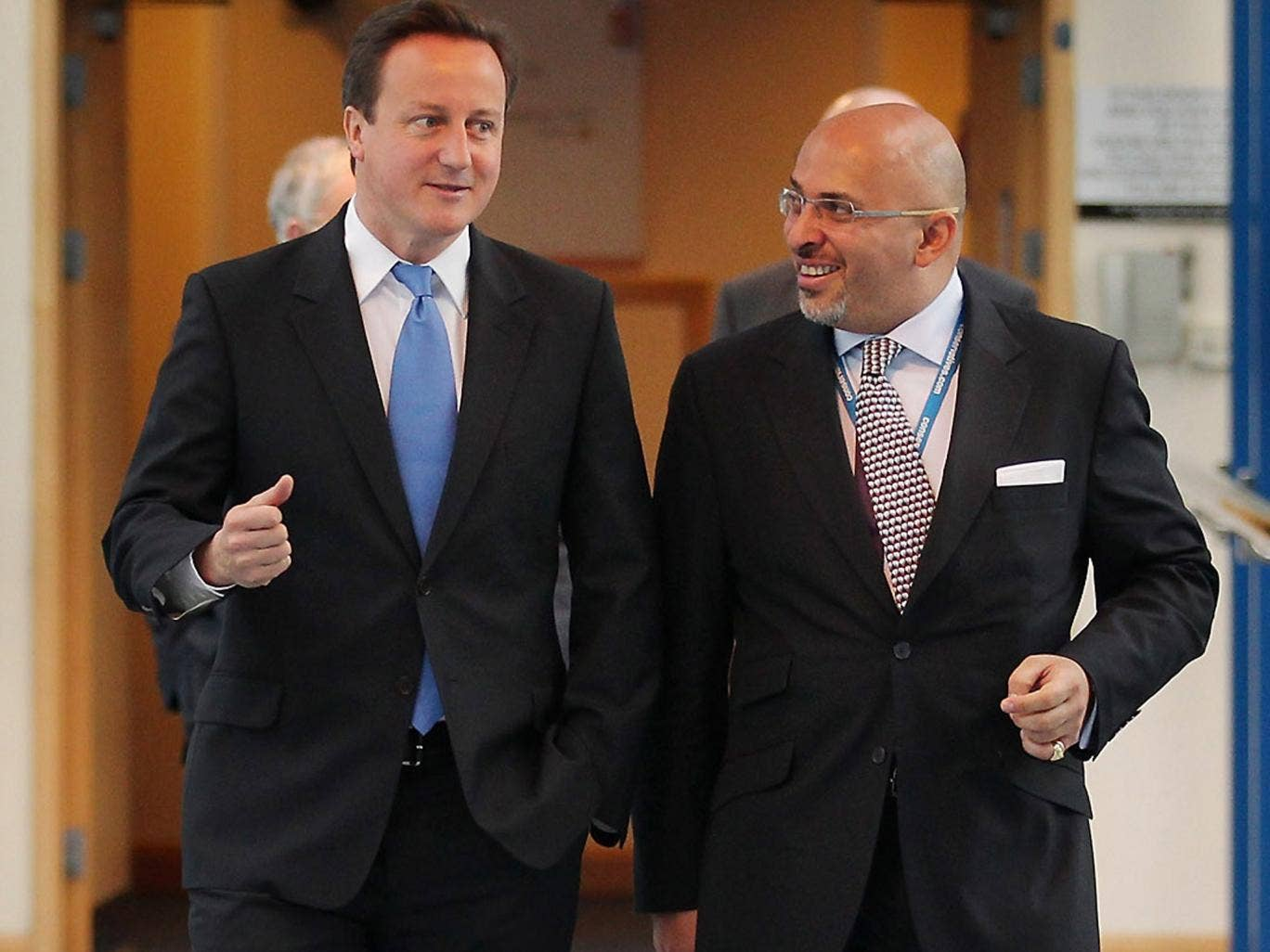 Nadhim Zahawi (right) is an adviser to the Prime Minister