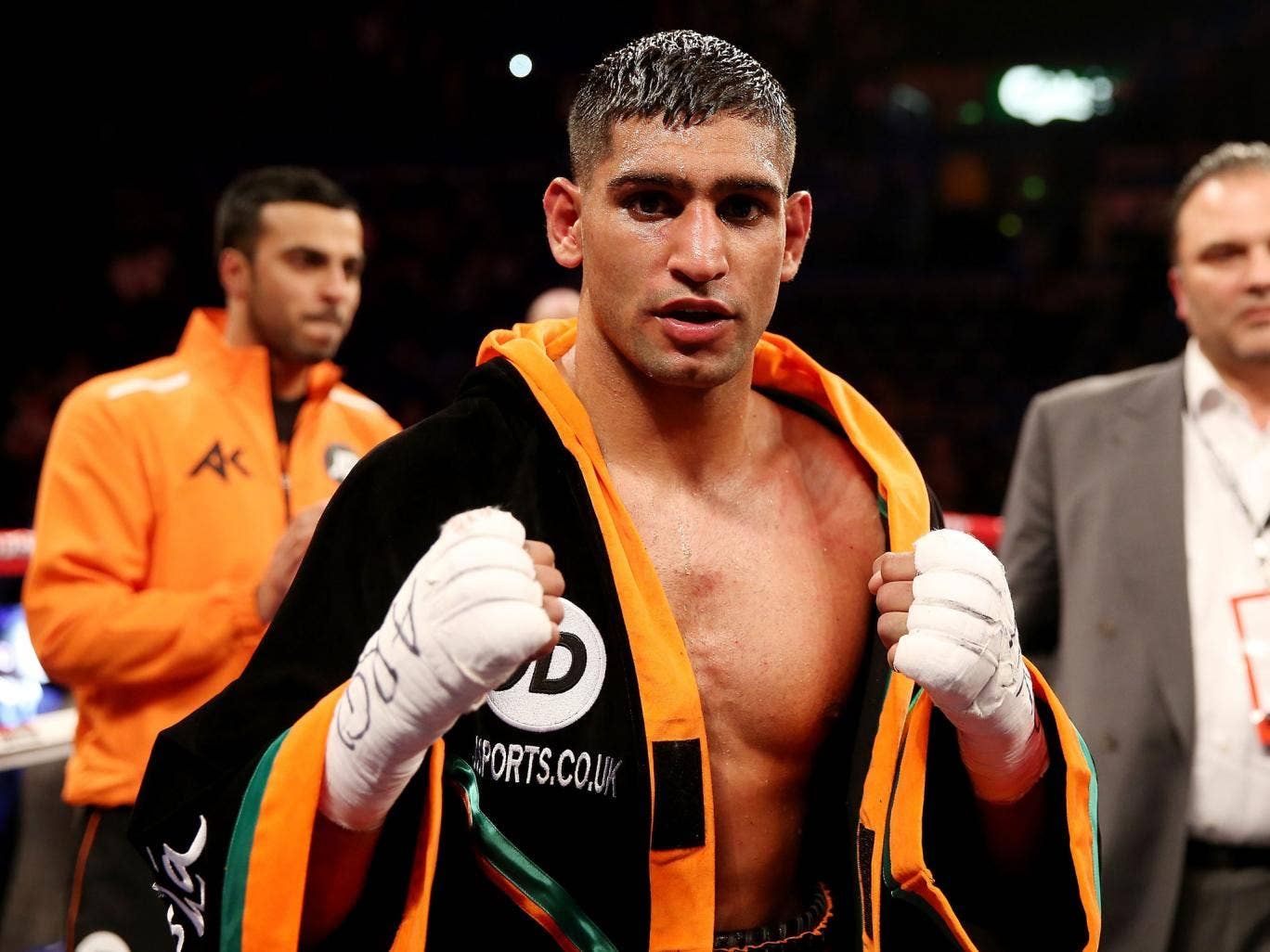 Amir Khan will find out in the next two weeks if he has secured a fight with Floyd Mayweather