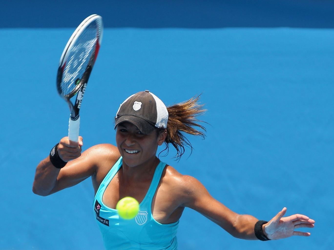 Watson overcame nerves to defeat Australian Arina Rodionova in the first round