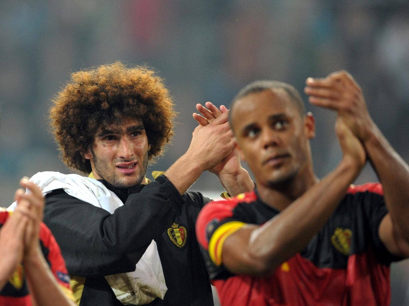 Marouane Fellaini has been backed to produce his best at Manchester United by international colleague and Premier League rival Vincent Kompany