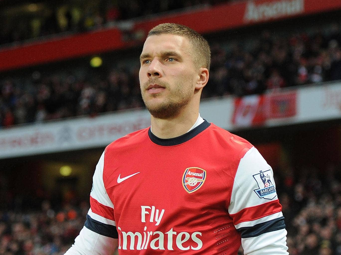 Lukas Podolski has been credited as 'one of the best finishers I have ever seen' by his manager Arsene Wenger