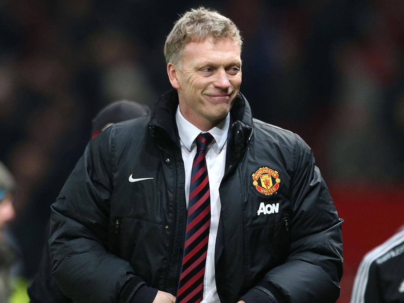 David Moyes smiles after Manchester United beat Swansea 2-0