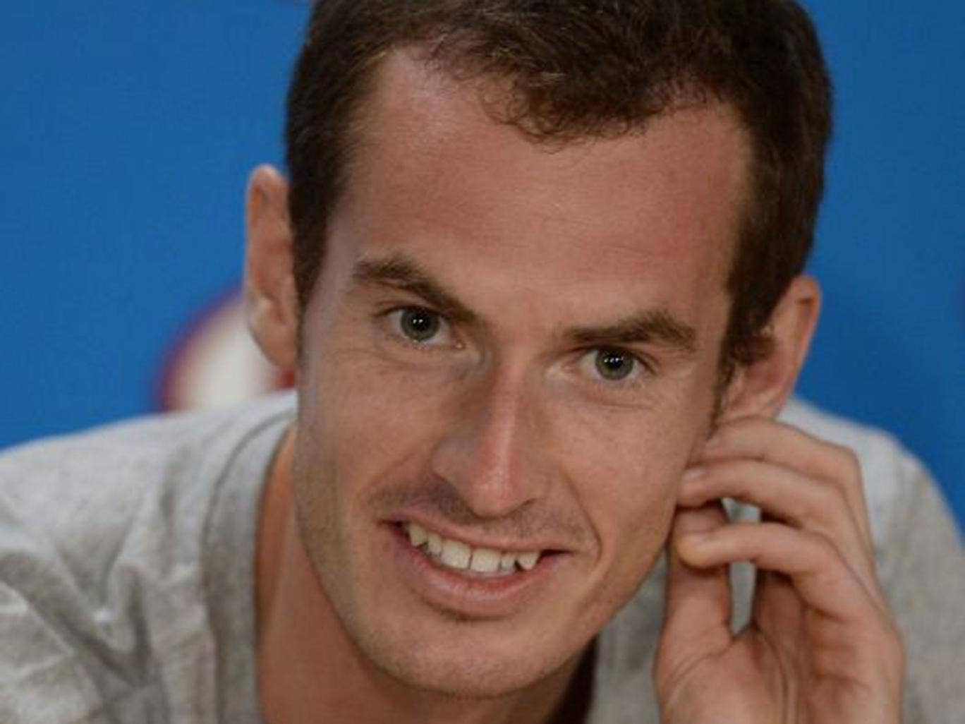 All smiles: Murray doesn't try to impress his coach or girlfriend