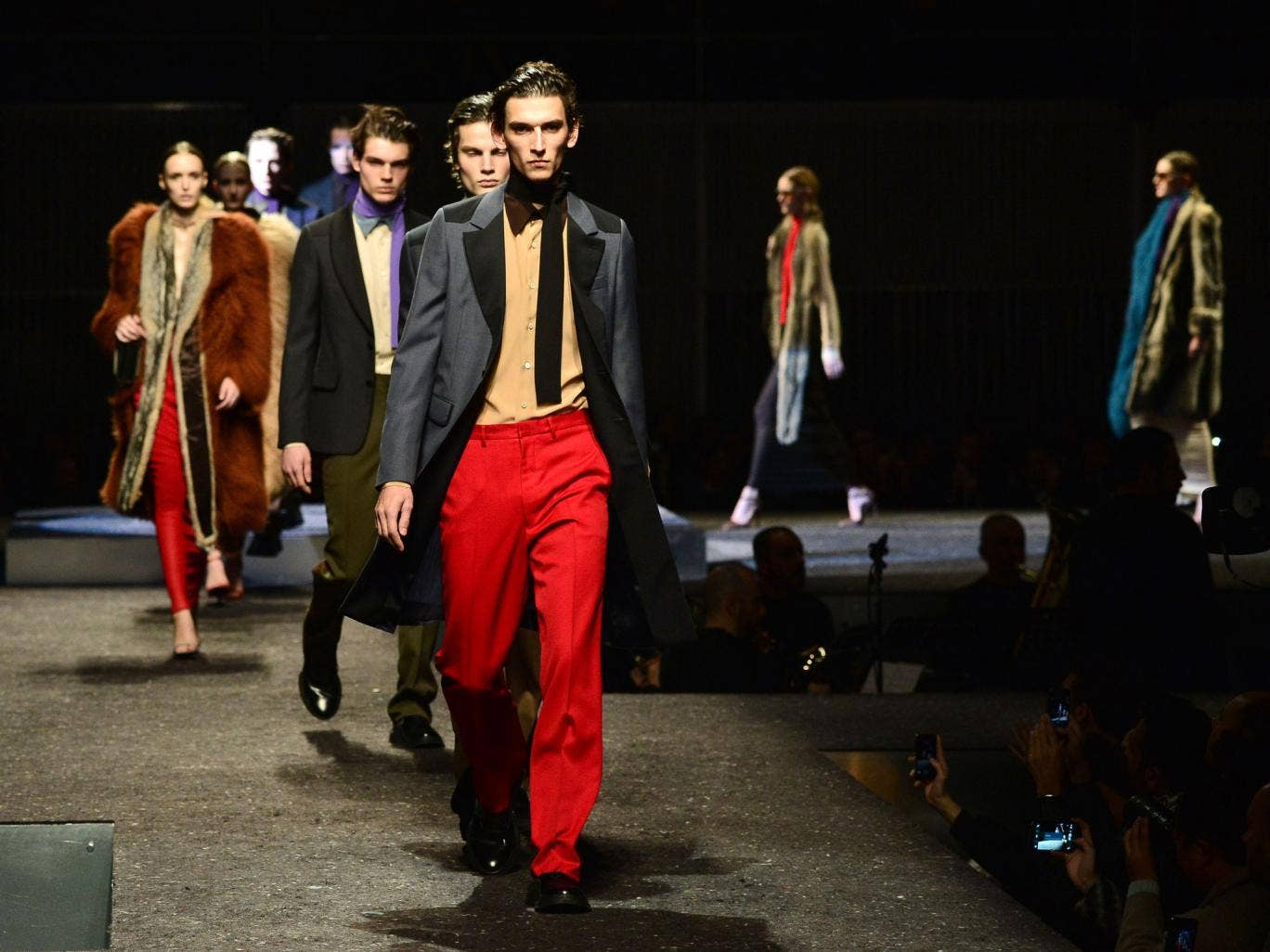 Prada's autumn/winter show in Milan hinted at decadence