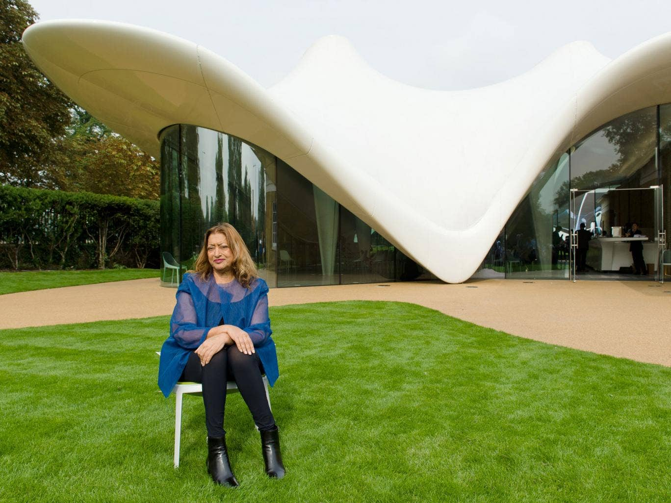 Iraqi-British architect Zaha Hadid is one of the few women who has made it to the top