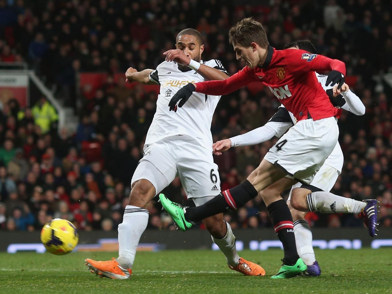Adnan Januzaj goes close in United's win over Swansea