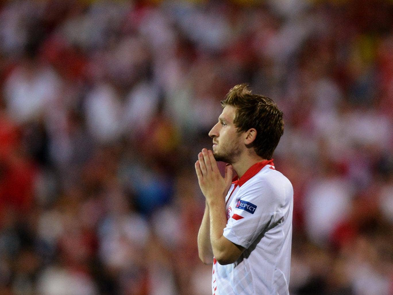Marko Marin of Sevilla FC in action