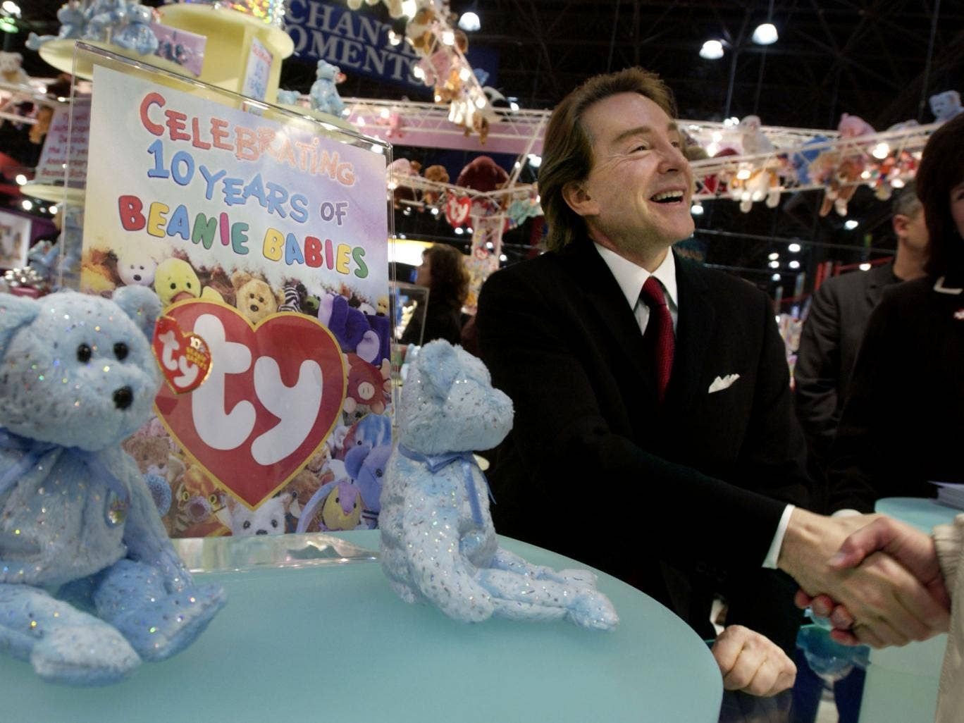 Ty Warner, the creator of Beanie Babies toys pictured here in 2003, has escaped a jail sentence after he was found to have avoided more than $25m in tax