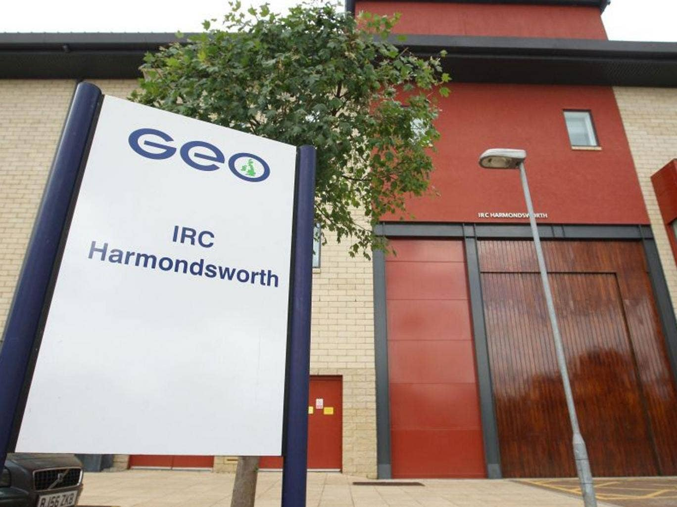 Harmondsworth IRC in West Drayton, where inspectors have revealed that an 84-year-old immigration detainee - who was suffering from dementia - was taken to hospital in handcuffs and died while still in restraints