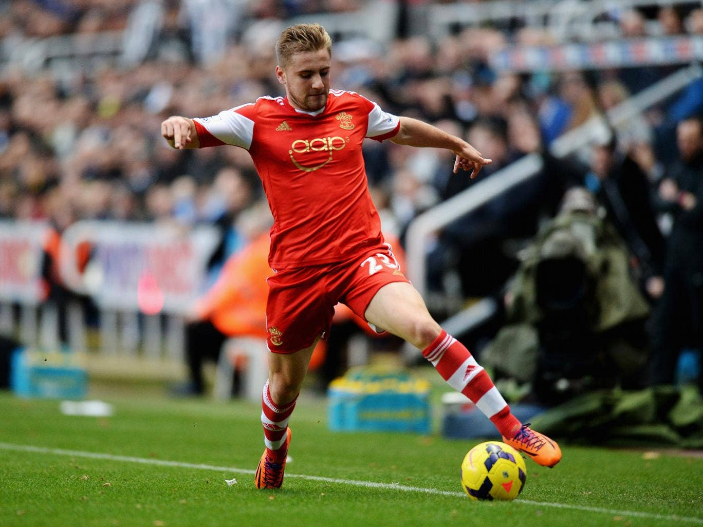 Southampton's highly rated left-back Luke Shaw