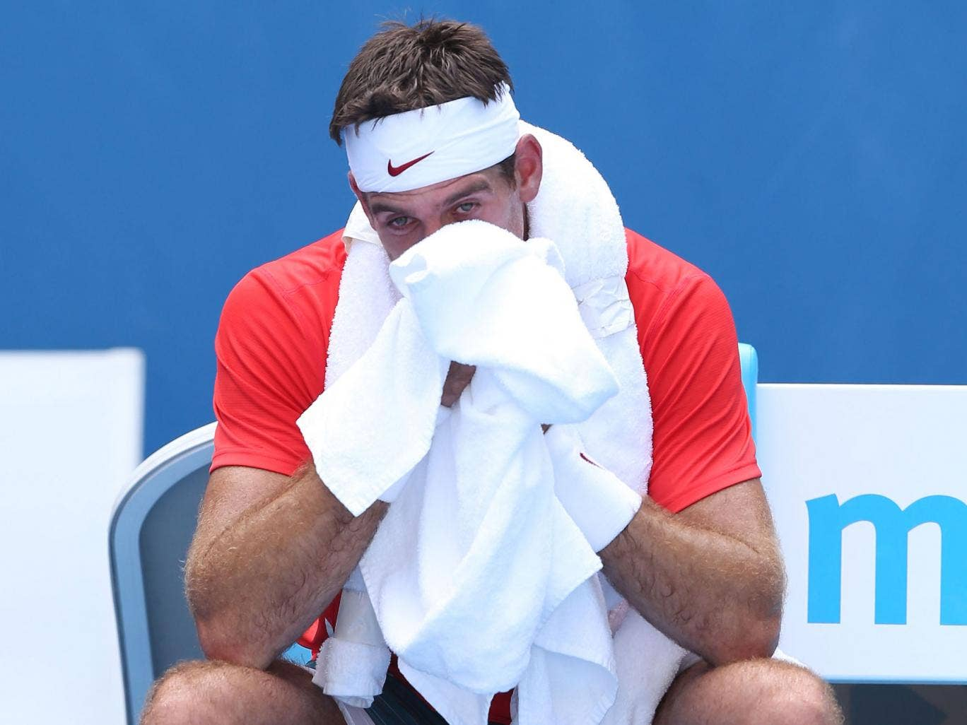 Juan Martin Del Potro was beating in the second round of the Australian Open by Roberto Bautista
