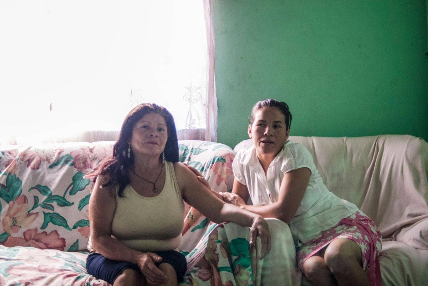 Josefina Flores, left, with her daughter Xiomara. Xiomara, now 32, was taken from Josefina when bshe was just one-anda- half, in 1984. They did not see each other again until 2 December 2013