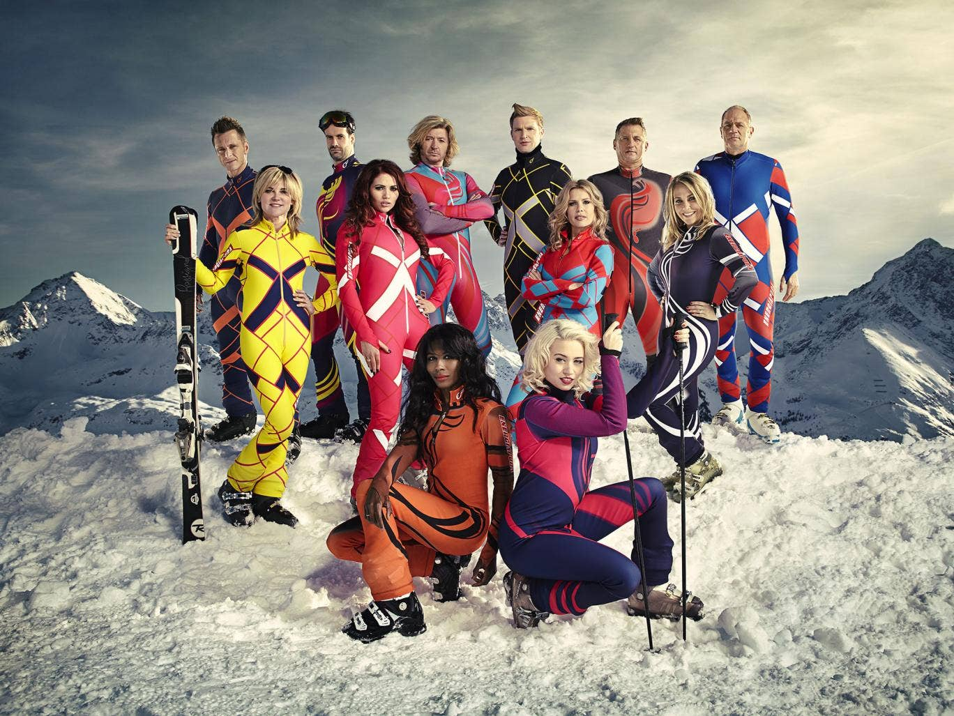That's one hell of a lot of lycra: These 12 celebrities are in Austria training for new reality TV show, The Jump