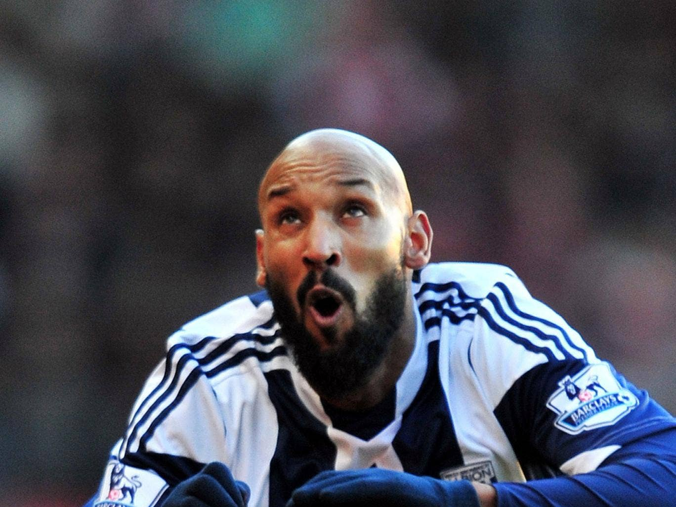 Nicolas Anelka is available to play against Everton on Monday as he awaits judgement from the FA