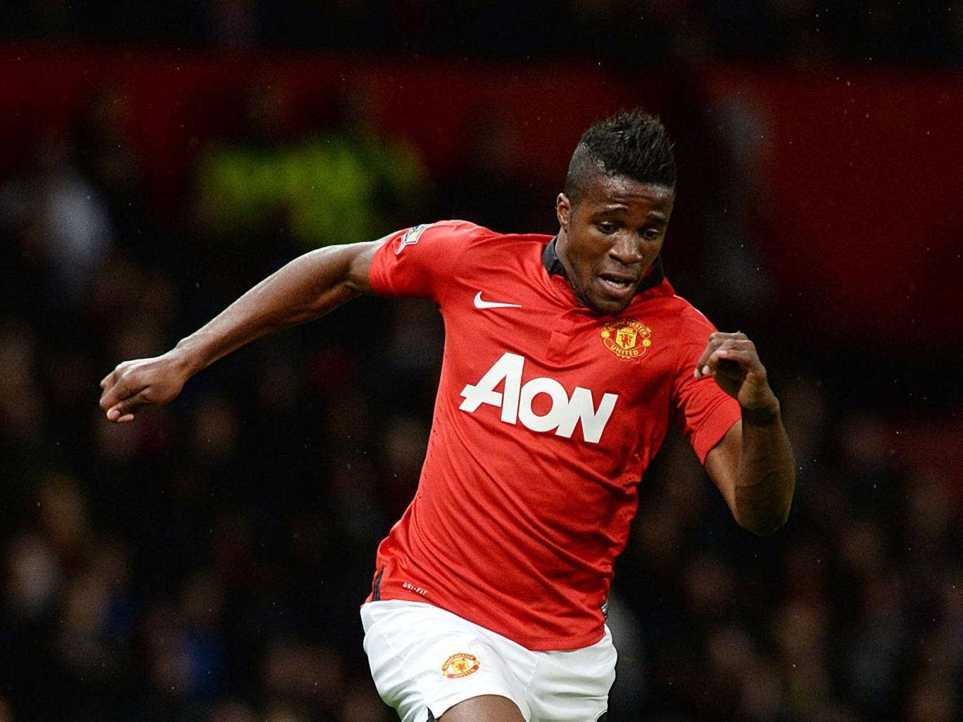 Wilfried Zaha has made just two substitute appearances for United in the league since joining