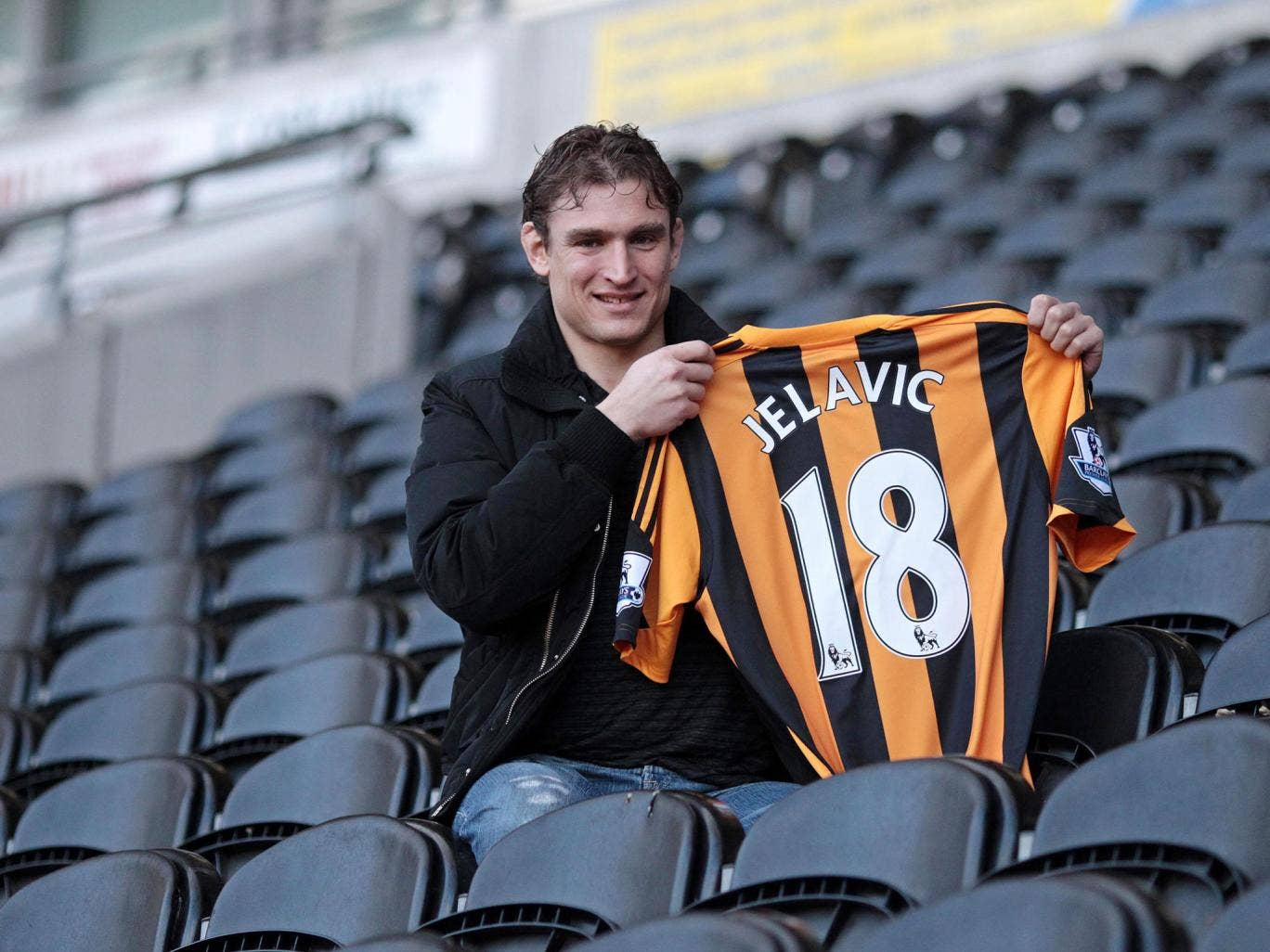 Nikica Jelavic, one of Hull's new signings, is unveiled at the KC Stadium. With his top-flight experience he should soon make an impact