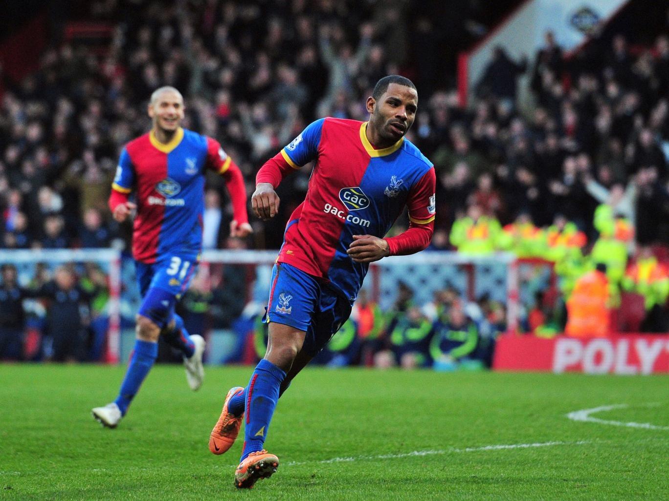 Jason Puncheon celebrates scoring against Stoke