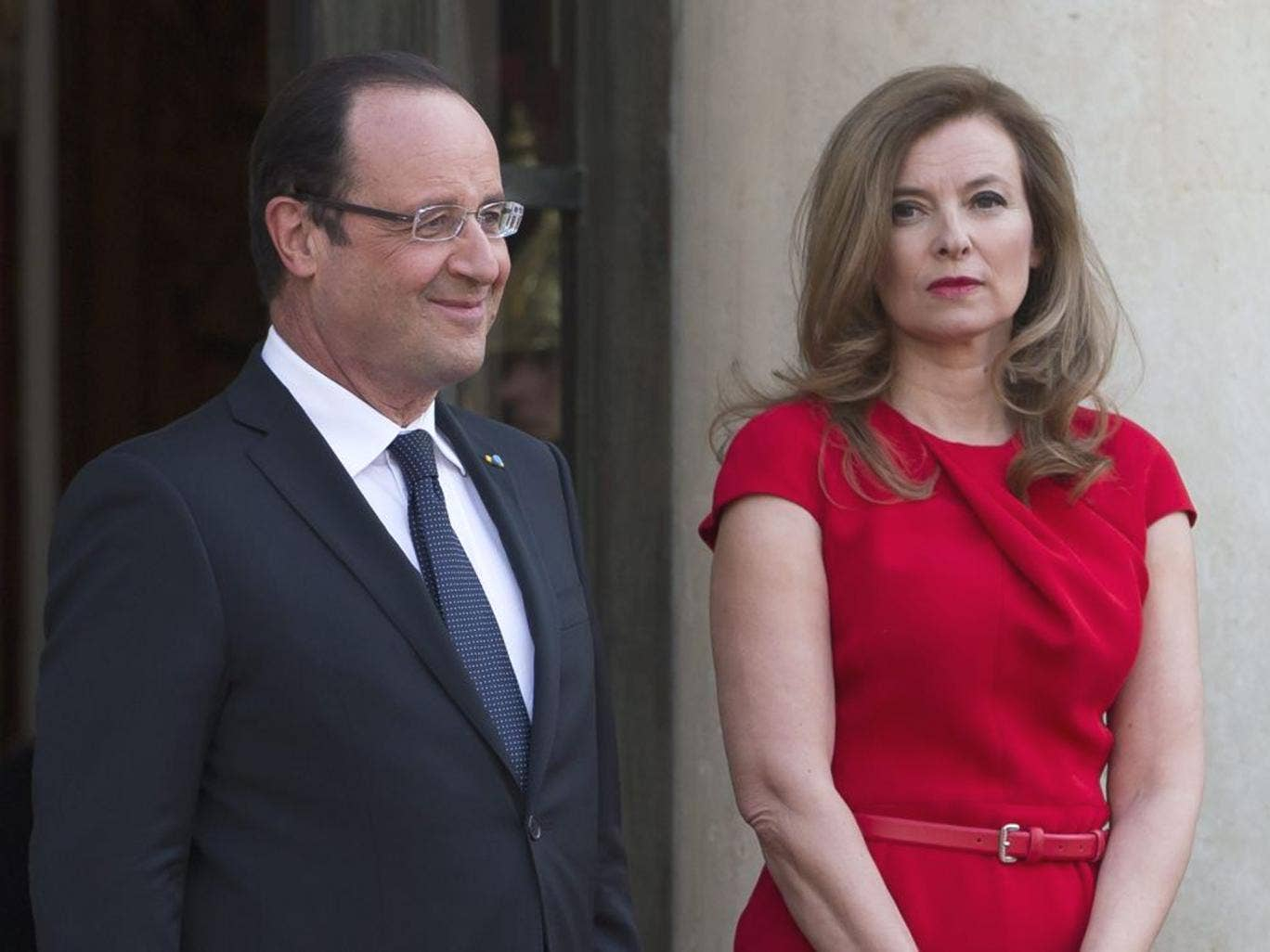 Valérie Trierweiler left hospital in Paris yesterday, a week after reports emerged that her partner, President François Hollande, was having an affair with the actress Julie Gayet