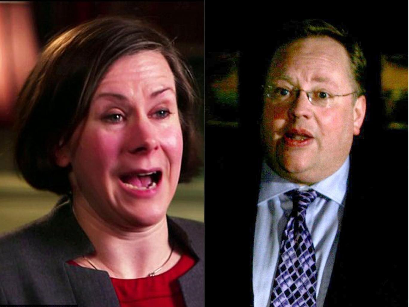 Bridget Harris, left, a former Clegg aide, has quit over the Lord Rennard affair