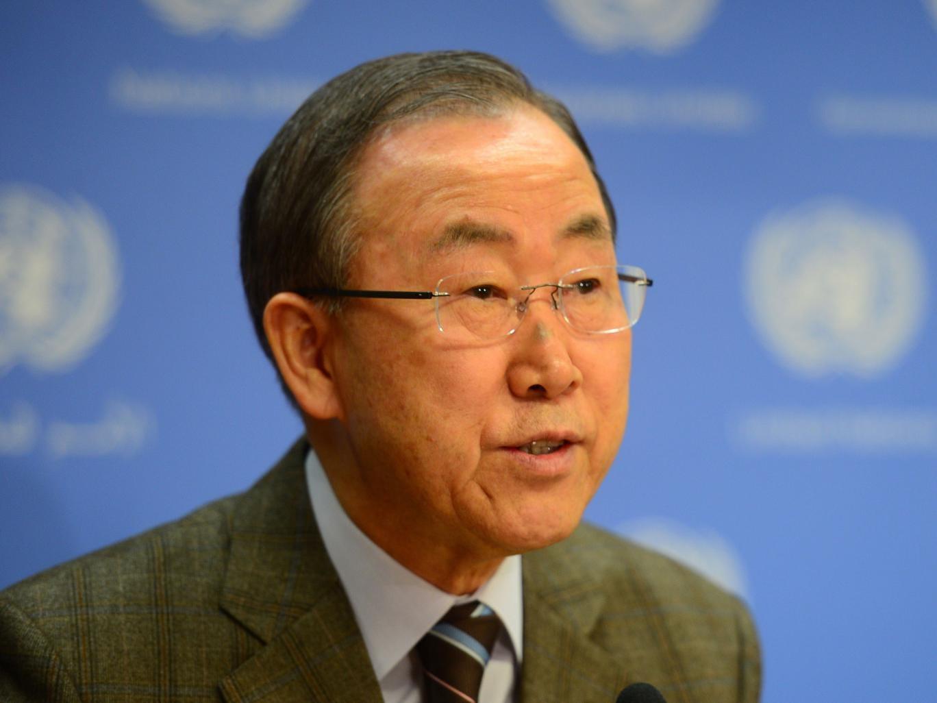 Ban Ki-Moon will travel to the region today to talk to representatives from Israel and Hamas