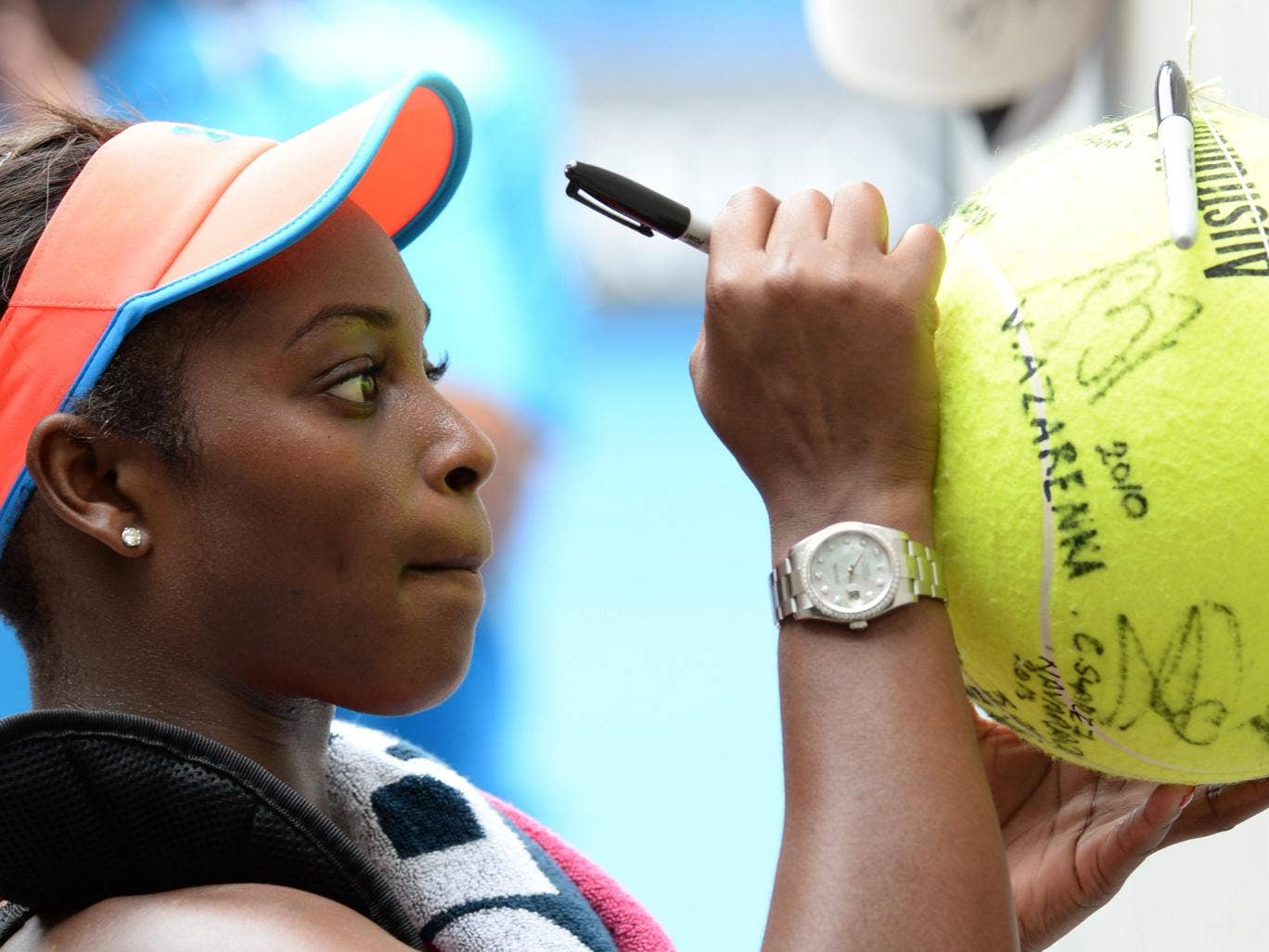 Sloane Stephens pictured at the Australian Open