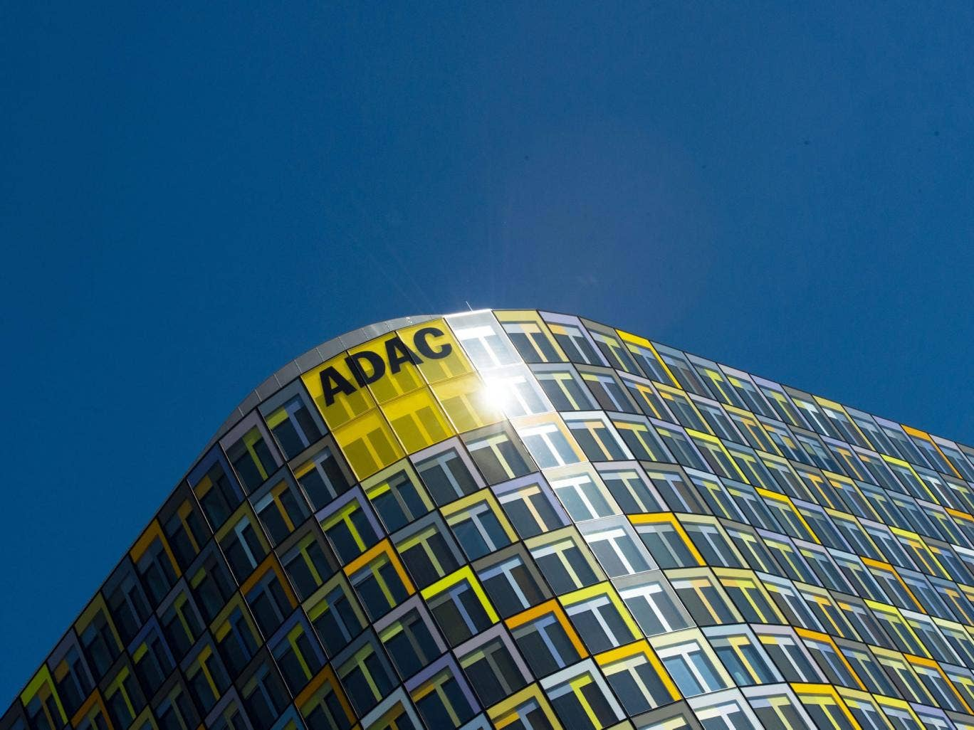 The headquarters of the German automobile club ADAC in Munich; ADAC has admitted of having manipulated the number of participants and votes of the car prize 'Yellow Angel'