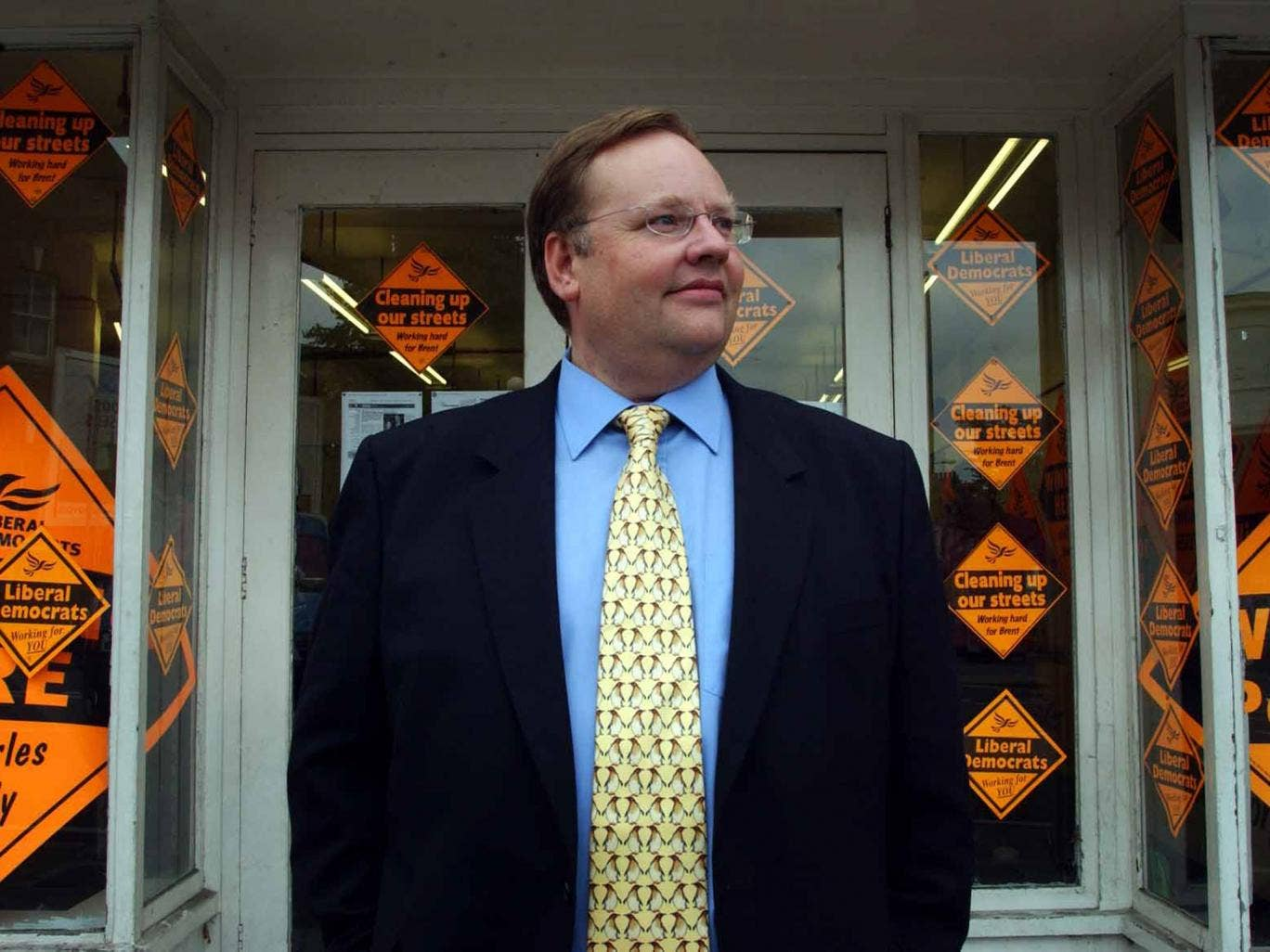 Lord Rennard in 2003; he has been accused of portraying himself as the victim in the groping scandal