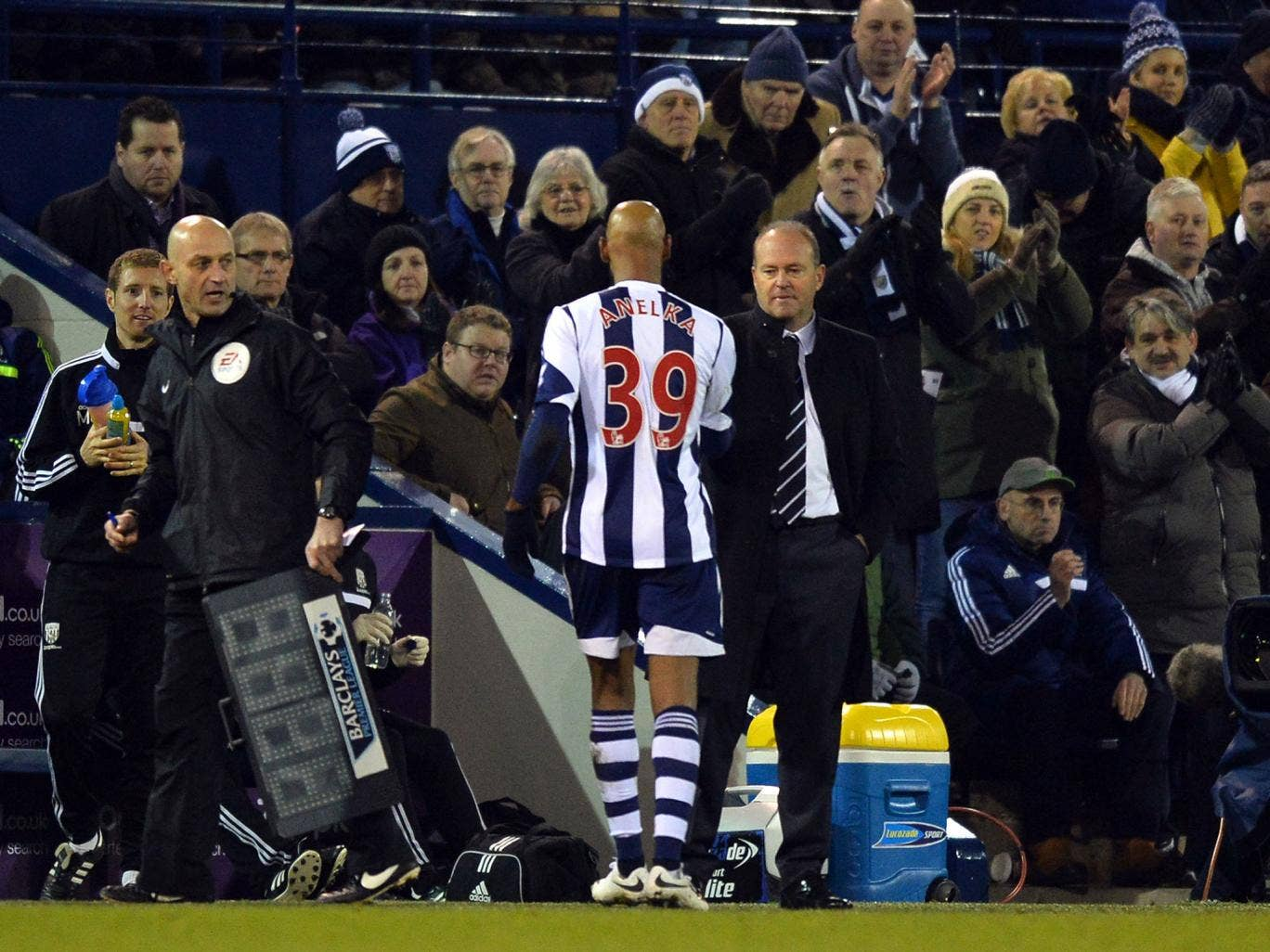 Pepe Mel insists he has no plans to drop striker Nicolas Anelka for West Brom
