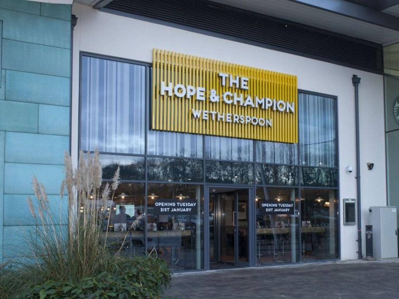 The new JD Wetherspoon pub which has opened at the Extra Motorway Service Area at junction 2 of the M40 in Beaconsfield