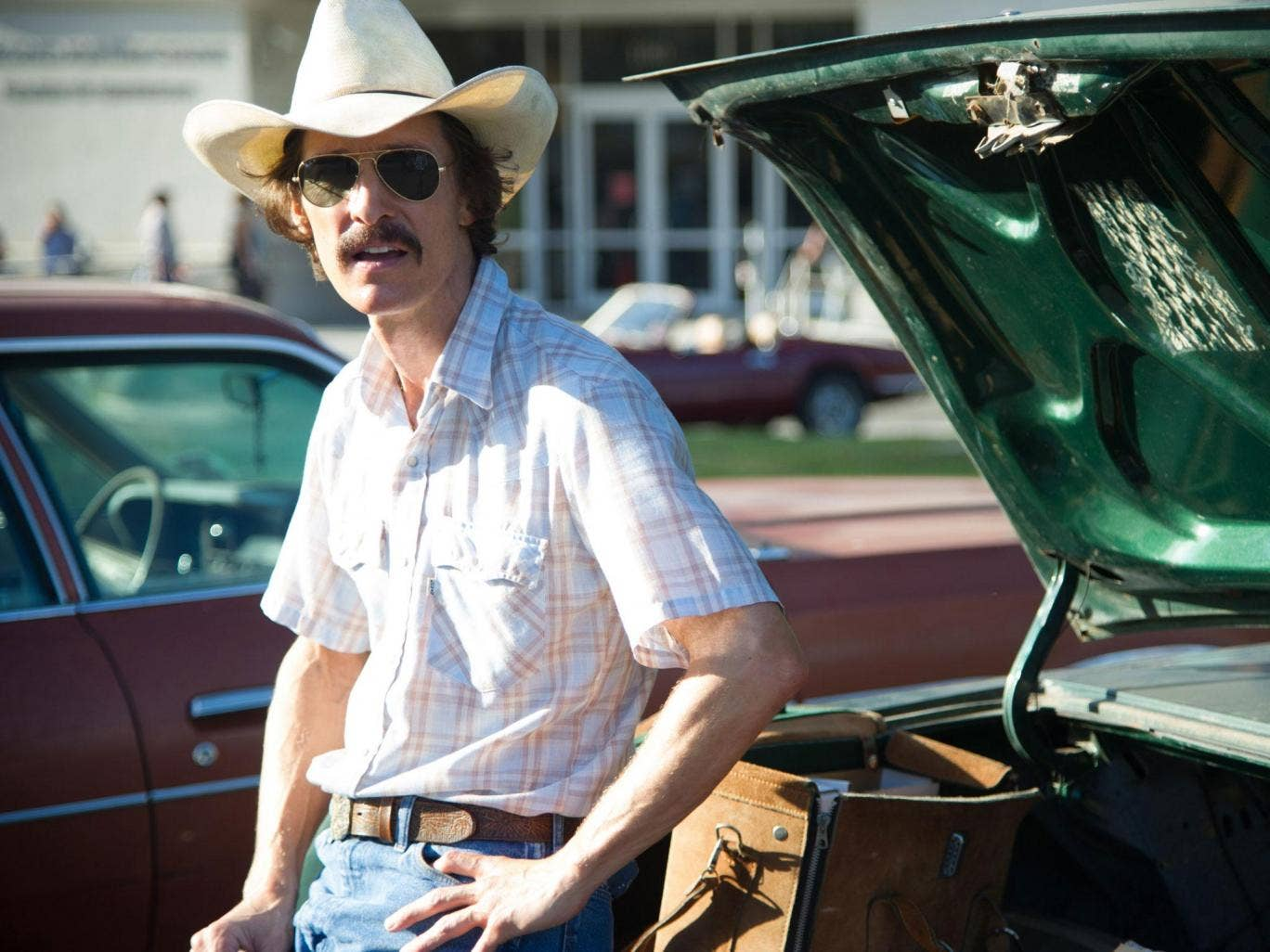 Matthew McConaughey as drugs smuggler Ron Woodroof in Dallas Buyers Club