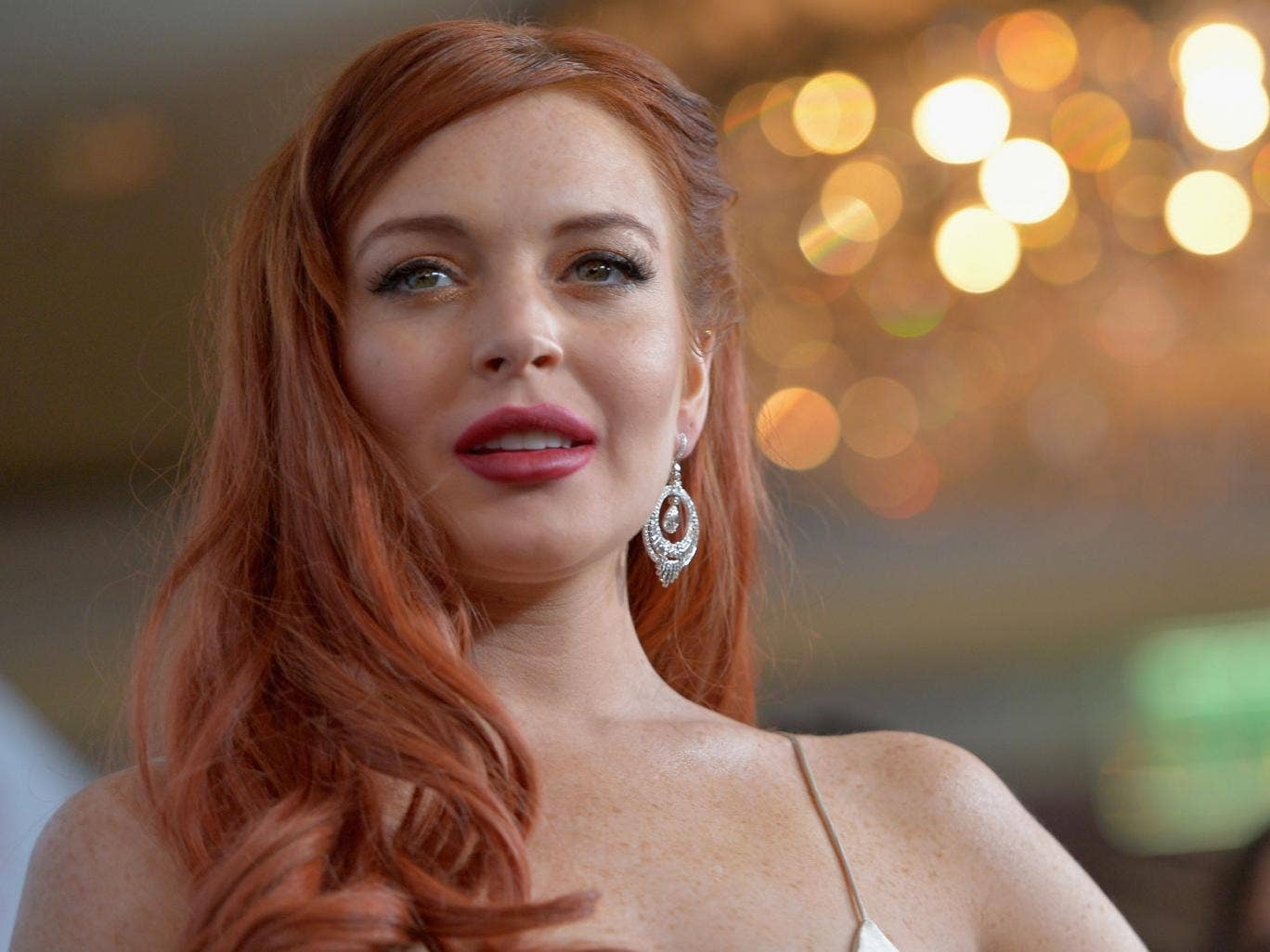 Lindsay Lohan is excited for her new project, Inconceivable, in which she plays a character to whom she can relate