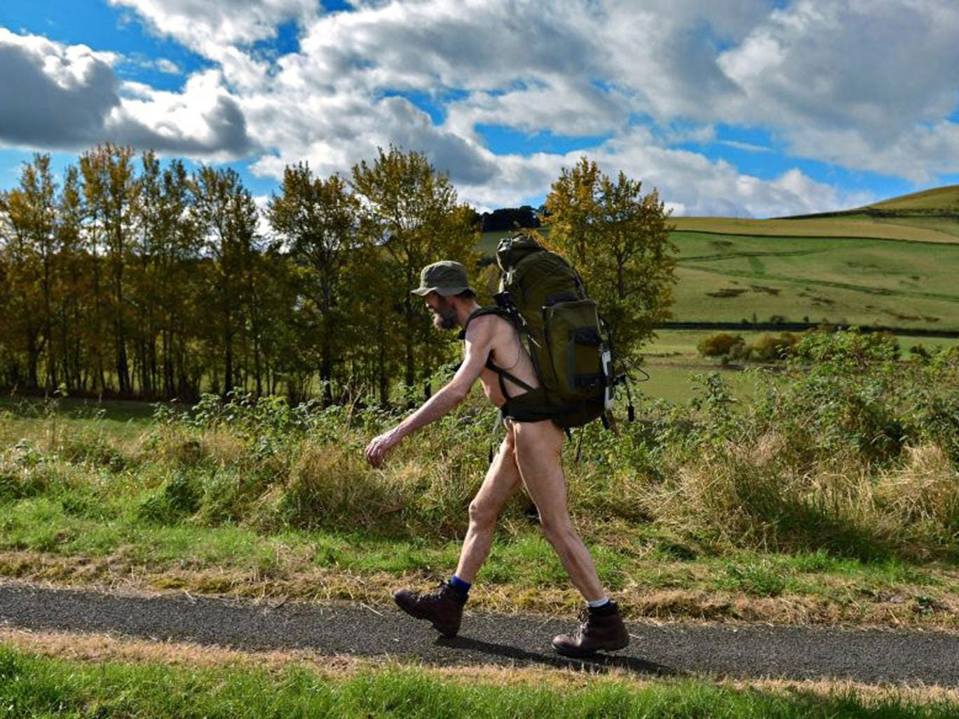 Back to naturist: Stephen Gough was the subject of 'The Naked Rambler'