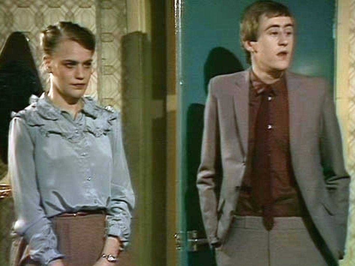 Kate Saunders as Sandra during the second series of 'Only Fools and Horses'