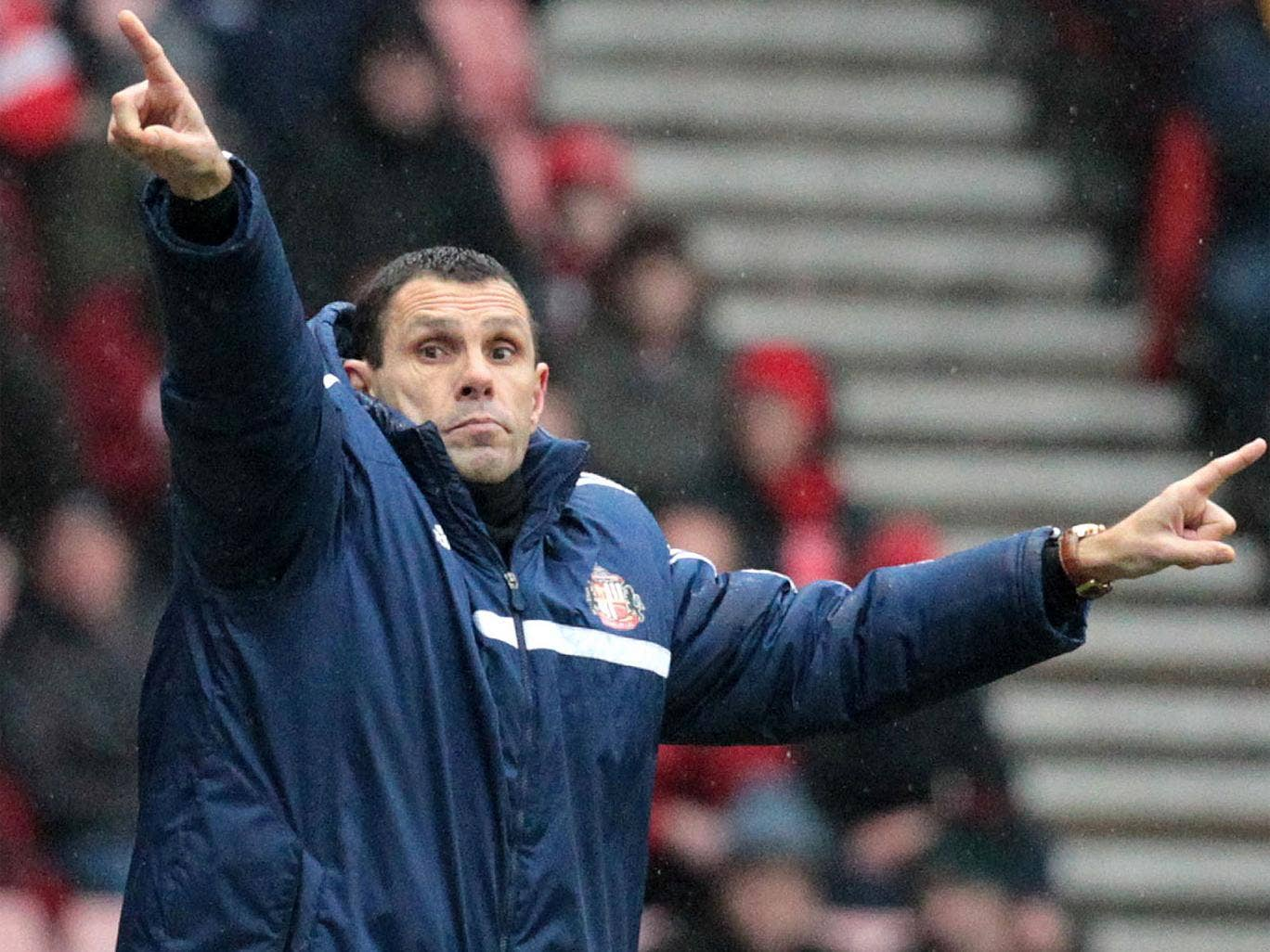 Gus Poyet gestures during last weekend's 2-2 draw with Southampton