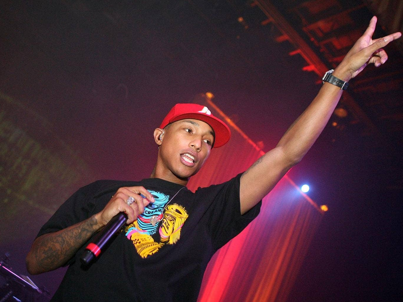 Pharrell Williams will perform alongside the likes of Katy Perry and Rudimental at the Brit Awards 2014