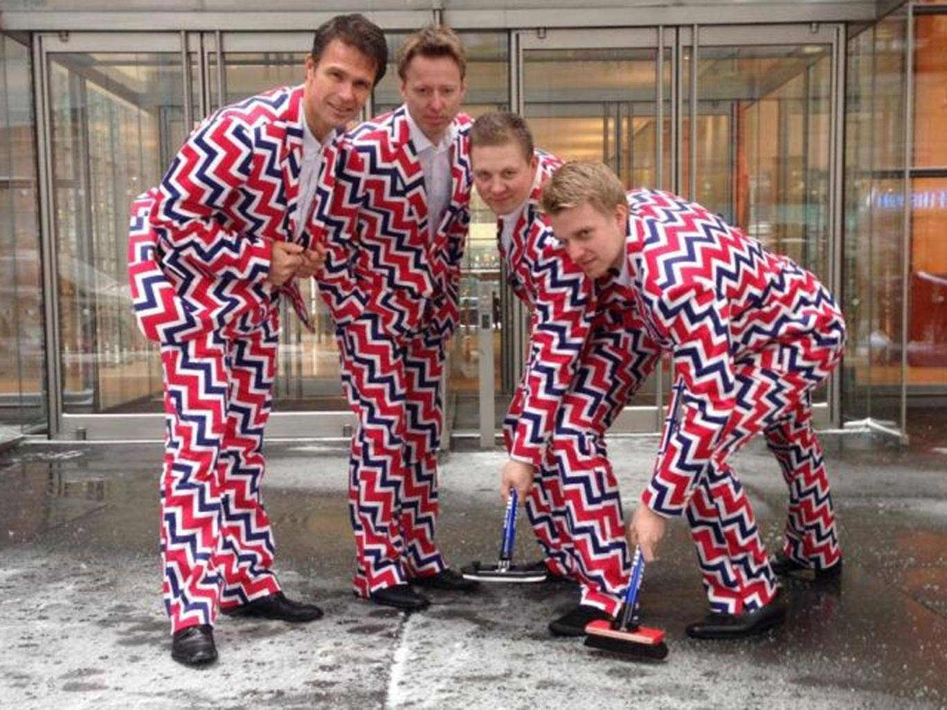 Norway's curling team has unveiled its understated uniform design for the 2014 Sochi Winter Olympics