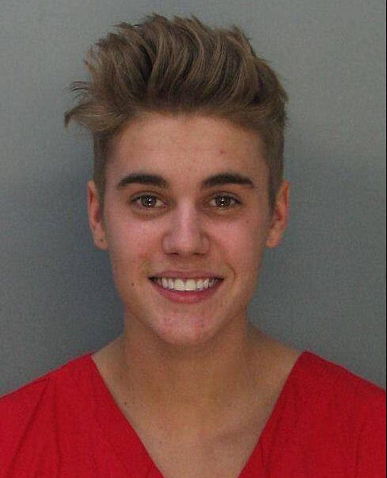 Justin Bieber's mugshot released following arrest for DUI and drag racing
