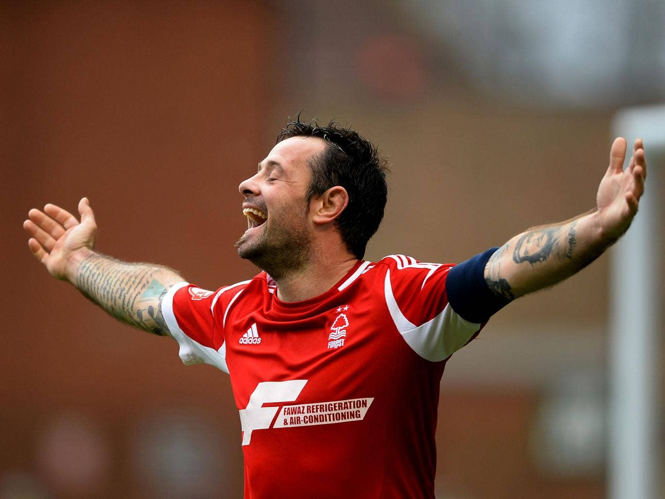 Andy Reid celebrates during Nottingham Forest's 5-0 FA Cup win over West Ham