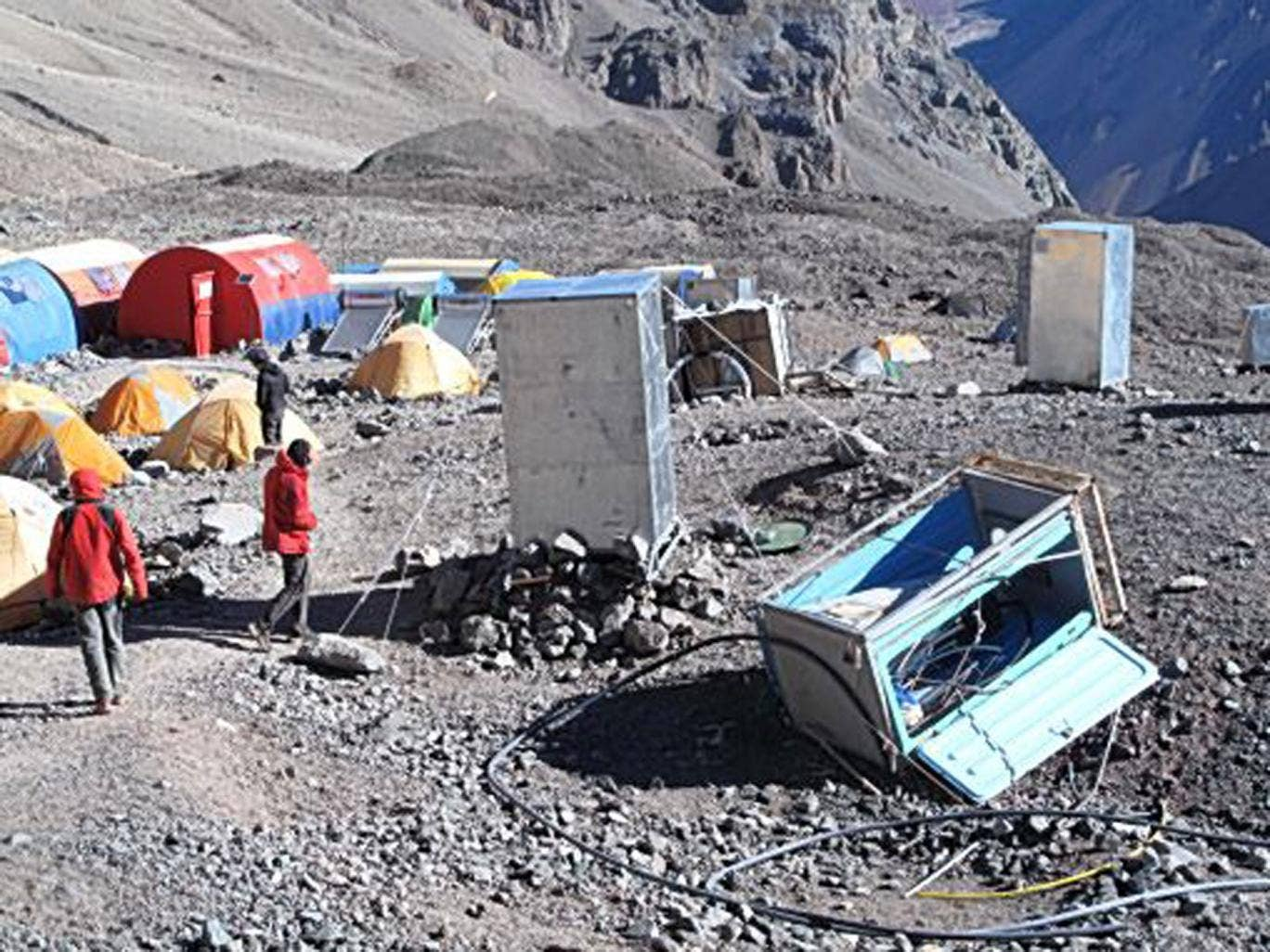 Touch base: the portable loos on Aconcagua