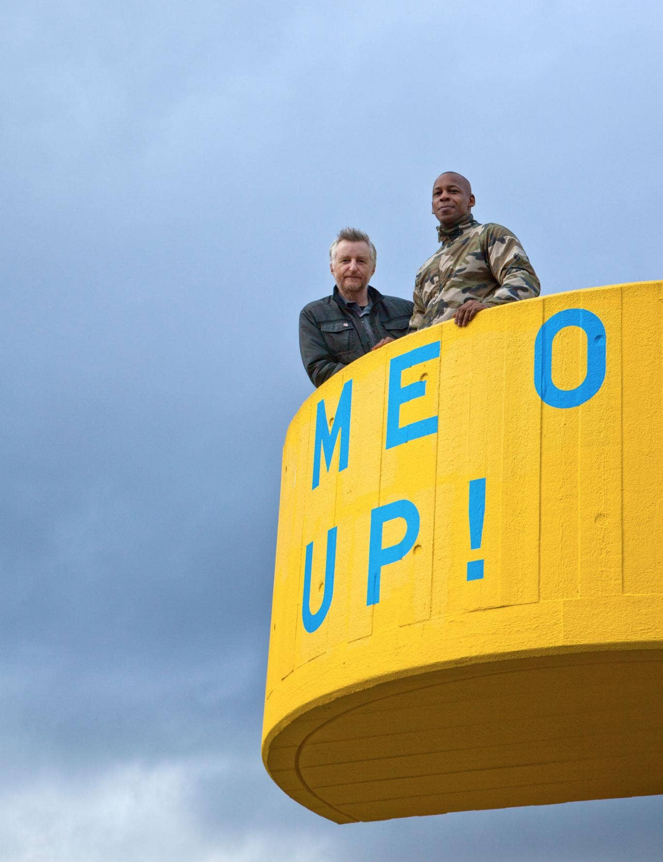 Bragg and Campbell at the Southbank Centre, where they will take part in the Being a Man festival