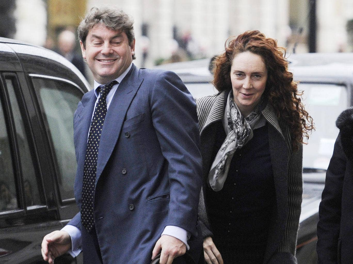 An email exchange in April 2011 between Rebekah Brooks and her husband, Charles Brooks, referred to her losing an iPad